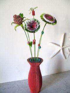 otro florero rojo