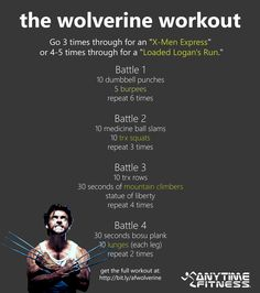 The Wolverine Workout - Get ripped like Logan! #Wolverine #Workouts #Health