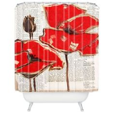 The Irena Orlov Red Perfection Shower Curtain has an artistic appearance and an almost poetic-like appearance. Constructed from polyester, this special shower curtain features two red roses in front of scrolled writing for a classy yet modern feel. Red Shower Curtains, Shower Curtain Rings, Spring Projects, Curtains With Rings, Pictures To Draw, Art Decor, Home Decor, Red Roses, House Decorations