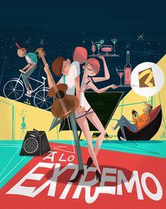 A Lo Extremo - Portada Edición 23 Revista Mallpocket by Alejandro Mesa, via Behance