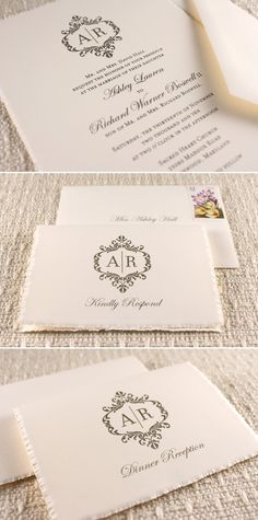 wedding stationary LOVE so elegant