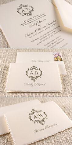 wedding stationary LOVE so elegant