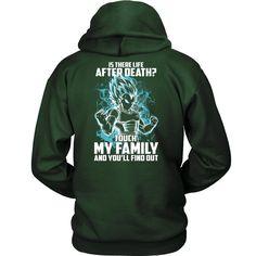 Super Saiyan - Vegeta God Blue protect family - Unisex Hoodie - TL00886HO