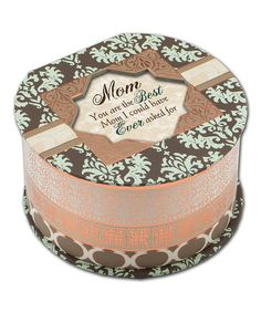 "Mother's Day is right around the corner. Take a look at this Damask 'Mom' Round Music Box.   Plays ""Wind Beneath My Wings""  $14.99 , reg 25.00."