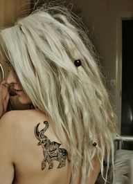 Elephant tattoo, The dreads are also awesome.