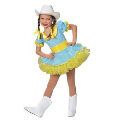White and blue gingham check cotton girls short sleeve dress with yellow tricot and yellow satin. Accented with yellow satin belt, yellow satin ribbon and yellow sequins. Cowboy hat and boot covers not included. Blue Gingham, Gingham Check, Dance Recital Costumes, Dance Pictures, Short Girls, Dance Wear, Cowboy Hats, White Dress, Sequins