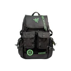 """Mobile Edge Razer Tactical Gaming Backpack Pro - 17.3"""" - Black ($160) ❤ liked on Polyvore featuring bags, backpacks, black, woven backpack, day pack backpack, strap backpack, water resistant laptop backpack and water resistant backpack"""