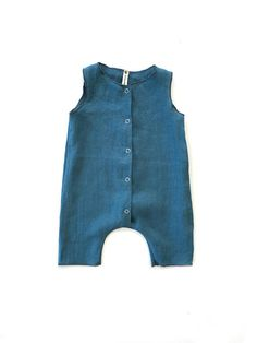da3c71994e32 Baby romper- button up tank top style with cropped legs. 5 snaps along the