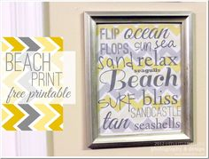 FREE PRINTABLE : subway art sign: beach print {mama♥miss}