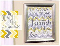 FREE PRINTABLE : subway art sign: beach print {mama♥miss}