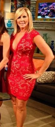 Vicki Gunvalsons Red Lace Season 9 Reunion Dress