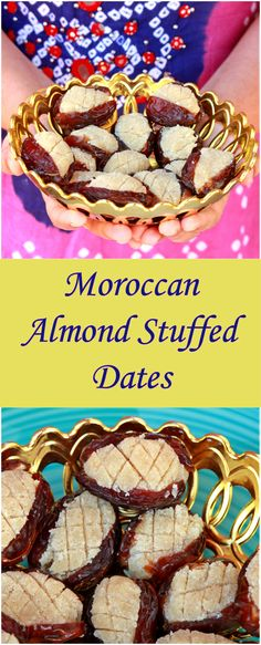 Moroccan Stuffed Dates | Dates Stuffed with Almond Paste Appetizer Recipes, Snack Recipes, Dessert Recipes, Snacks, Appetizers, Sweet Recipes, Vegan Recipes, Kinds Of Desserts, Easy Desserts