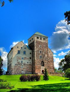 A start was made on building the castle in about Helsinki, Beautiful Castles, Beautiful Buildings, Beautiful Places, Castle Ruins, Scenery, Places To Visit, Around The Worlds, Queen