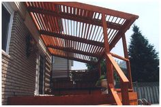 Louvered deck roof