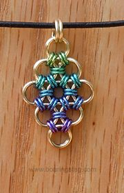 Handcrafted chain-mail pendant