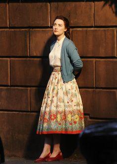 "Saoirse Ronan as Ellis in ""Brooklyn""....can't wait to see this movie!!!"
