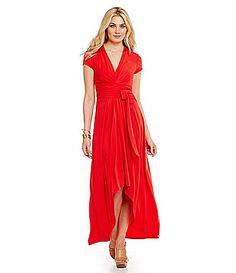 MICHAEL Michael Kors HiLow Matte Jersey Maxi Wrap Dress #Dillards