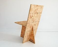Cube Table  and Plus Chair  — new plywood and OSB  furniture from ROLU .  Previously: Nathan Lerner ; Albert Frey .