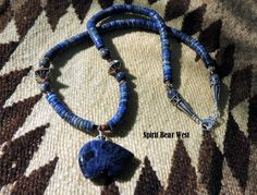 Jerome Necklace Earring set Blue Sodalite and by SpiritBearWest, $84.99