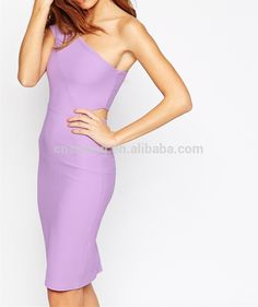 2015 summer all full sexy picture bodycon dress, one-shoulder design sexy women's dress