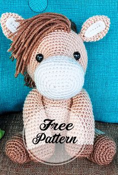 muster deutsch Heidi el caballo libre de amigurumi crochet Patrón Part 1 Crochet Easter, Knit Or Crochet, Free Crochet, Patron Crochet, Simple Crochet, Amigurumi Free, Crochet Patterns Amigurumi, Knitting Patterns, Knitted Teddy Bear