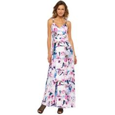 Jennifer Lopez Print Empire Maxi Dress - Women's