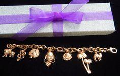 Vintage Copper African Theme 8 Charm Bracelet by AyQueBella - Visit my Etsy shop: www.etsy.com/shop/AyQueBella