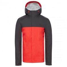 The North Face, Fiery Red, Waterproof Fabric, Raincoat, Bring It On, Tops, Casual, Mountain, Construction