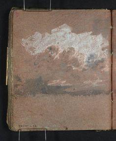 Joseph Mallord William Turner, 'Study of Clouds' 1796-7