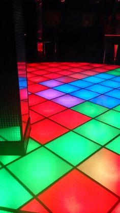 I loved dancing on these disco dance floors, especially when the lights started to flash and the overhead strobe lights were turned on!