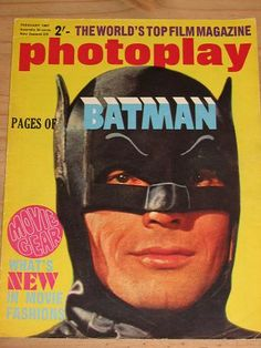 PHOTOPLAY MAGAZINE FEBRUARY 1967 BACK ISSUE FOR SALE BATMAN VINTAGE FILM MOVIE PUBLICATION PURE NOST