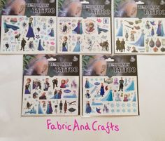 4 PACKS/120 DISNEY FROZEN TEMPORARY TATTOOS-ELSA/ANNA/OLAF/SVEN/-CHILDREN/KIDS