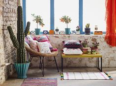 Primark Home Mexican Fiesta Dream Catcher €4 $5, Pom Pom Cushion €10 $11, Woven bathmat, €5 $5.50, Storage boxes, €4 $4.50