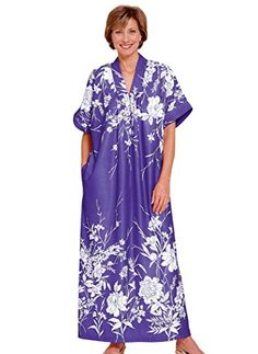 Trapunto Trim Caftan -- Want additional info? Click on the image. (This is an affiliate link) #SleepLounge