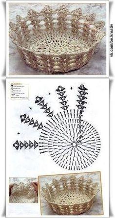 Luty Artes Crochet: Cestas de crochê com gráficos