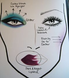 18 MAC to School Makeup Tips... maybe not blue but I like these tutorials