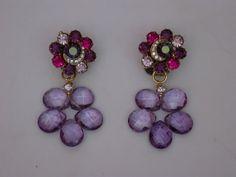 earrings, glass beads
