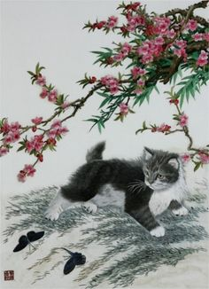 Chinese Silk embroidery on silk