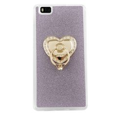 >> Click to Buy << For Huawei P8 Lite Case Heart-shaped Pattern with 360 Rotate Ring Holder Stand Luxury Glitter Back Cover Case For Huawei P8 Lite #Affiliate