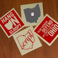 Ohio STate Coster Set