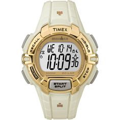 1119364b4ea Timex IRONMAN Rugged 30 Format Standard Watch - Gold-White  TW5M06200JV