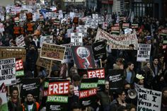 Thousands Of U.K. Students Take To The Streets To Demand An End To College Tuition