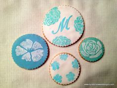 Stencil Design Cookie Favors - Kyrsten's Sweet Designs | Specialty Cakes and Cookie Favors