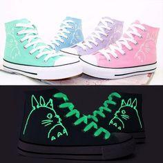 online retailer 125b1 c0c02 Totoro High Top Luminous Sneakers. Cute Girl ...