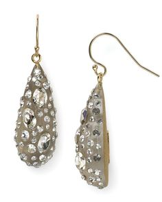 """Alexis Bittar Lucite Crystal Dust Dewdrop Earrings 