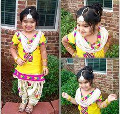 Cutieee in punjabi suit ♡ get you princess suits designed @nivetas Whatsapp +917696747289 visit us at https://www.facebook.com/punjabisboutique kid punjabi salwar suit #kidsSuit #BabySalwarSuit Punjaban #littlePunjabiGirl  delivery world wide