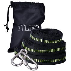 TTLIFE Hammock Tree Straps Set Versatile 2000+ LBS Heavy Duty 40 Loops & 100% No Stretch Suspension System Kit - Camping Hammock Accessories As Hammock Straps with 2 Carabiners
