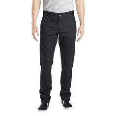 be2e1c576a Dickies Men s Skinny Straight Fit Flex Twill Double Knee Pants- Black 30x30