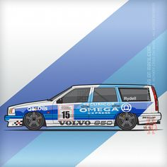 Volvo 850R TWR British Touring Car Championship (1994) – For fans of the swedish brick. Side view of the 1994 #Volvo 850 TWR British Touring Car Championship (#BTCC) race car in Securicor Express livery. Number 15 driven by Rickard Rydell and build by Tom Walkinshaw Racing. ][ Volvofornia