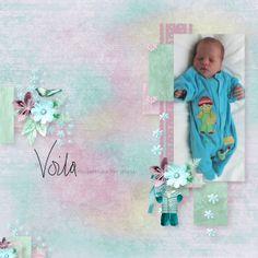 """Template """"Baby's Paradise Collab""""  by Christaly Scrap  RAK Angélique Brément  http://www.digi-boutik.com/boutique/index.php?main_page=index&cPath=22_294  Avec ke kit """"Au pays du Pastel"""" by Kasta Gnette"""
